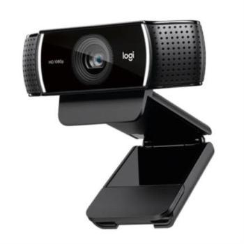 Camara Web Logitech C922 Pro para Streaming HD 1080p USB Color Negro