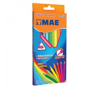 Colores Mae CMT-12L Triangulares Largos Mina C/12 Pzas