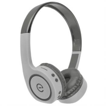 Audífonos Perfect Choice Easy Line On-Ear Bluetooth Radio FM Lector Tarjeta MicroSD Color Gris