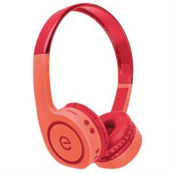 Audífonos Perfect Choice Easy Line On-Ear Bluetooth Radio FM Lector Tarjeta MicroSD Color Coral