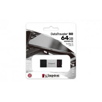 MEMORIA FLASH KINGSTON 64 GB USB-C 3.2 GEN 1 (DT80/64GB)