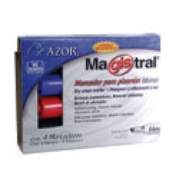 MARCADOR MAGISTRAL 830-12AZ AZUL PIZARRON BCO ALUMINIO C/12