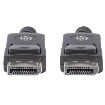 Cable Manhattan DisplayPort M-M Blindado 1m Color Negro