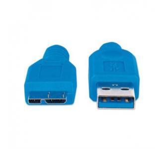 Cable Manhattan USB Micro-B Súper Velocidad 3.2 Gen1 2m Color Azul