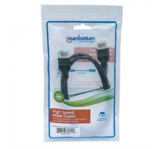 Cable Manhattan HDMI M-M Alta Velocidad con Ethernet 1m Color Negro