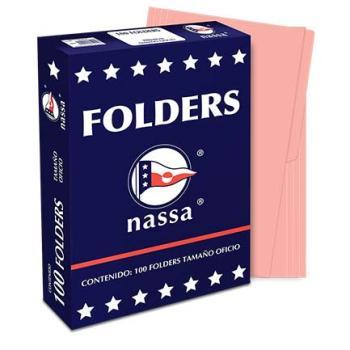 FOLDER NASSA PREMIUM OFICIO ROSA C/100 PIEZAS