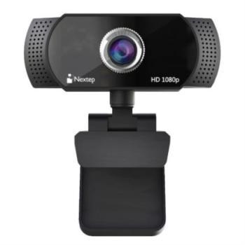 Cámara Web Nextep 1080P HD USB Micrófono Integrado Color Negro