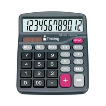Calculadora Nextep 12 Dígitos Semi Escritorio Bateria/Solar