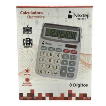 Calculadora Nextep 8 Dígitos Semi Escritorio Solar/Batería