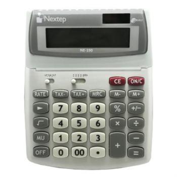 Calculadora Nextep 12 Dígitos Escritorio Función Impuestos Solar/Batería