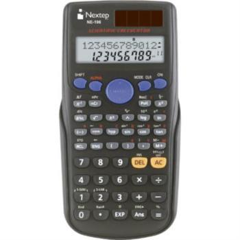 Calculadora Nextep Científica 10+2 Dígitos Doble Línea 240 Funciones Batería Solar