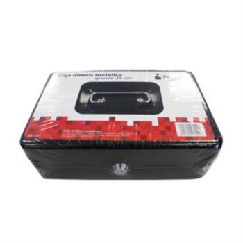 Caja Dinero Nextep Metálica Grande 25cm Color Negro