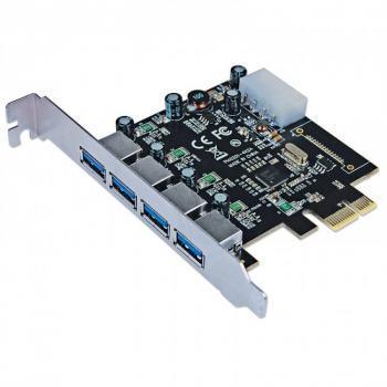 TARJETA USB 3.0 MANHATTAN PCI EXPRESS 4 PTOS 152891