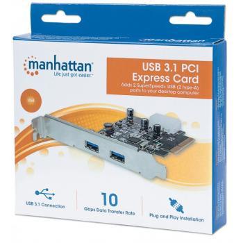 TARJETA USB 3.0 MANHATTAN PCI EXPRESS 2 PTOS 151795
