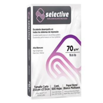 Papel Scribe Selective 99% Blancura 70 gr Caja C/5000 Hojas