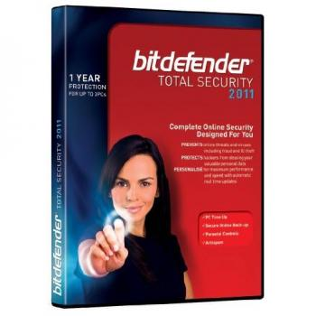 BITDEFENDER TOTAL SECURITY FAMILY PACK 2011 (2 A?S) 3 USUARIOS