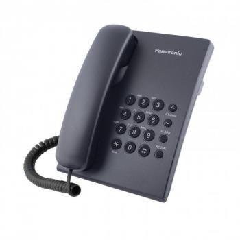 TELÉFONO PANASONIC KX-TS500MEB -ALÁMBRICO BÁSICO -SIN MEMORIAS - NEGRO