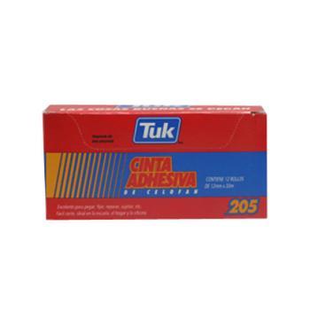 CINTA TUK TRANSPARENTE 205 12X33 C/12