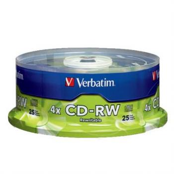 DISCO COMPACTO VERBATIM RW 80MIN 700MB C/25