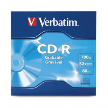 CD-R Verbatim 80min 700MB 52X Paquete C/50 Pzas