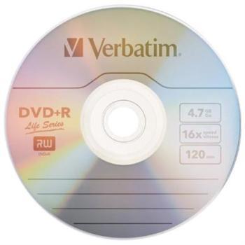 DVD+R VERBATIM 4.7GB 16X SPINDLE C/50