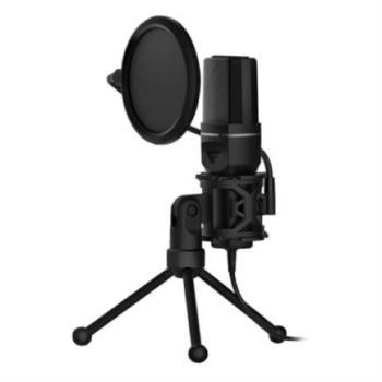 Micrófono Vorago Game Factor MCG601 Streaming Stand Anti Pop USB Color Negro