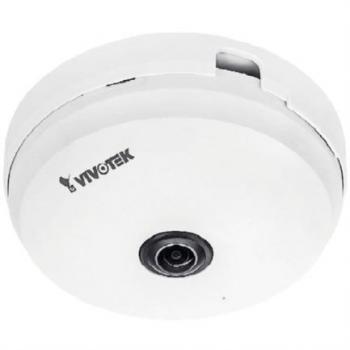 Camara IP Vivotek FE9180H Fisheye Interior 5MP H.265 Vision Hemisferica 360 Smart Stream III WDR Pro 3DNR Microfono