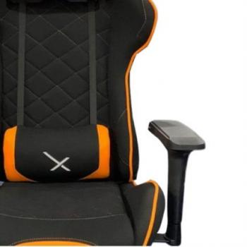 Silla Gamer Stylos XZ25 Tela/Brazos 4D Soporte Lumbar Color Naranja