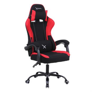 Silla Gamer Stylos XZ20 Tela/Brazo Ajustable Soporte Lumbar Color Rojo