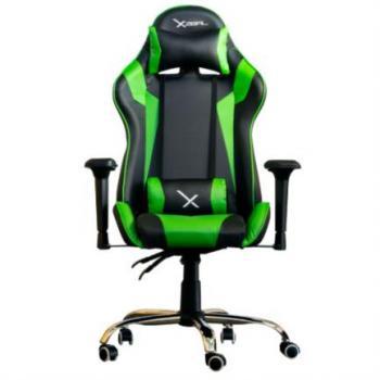 Silla Gamer Stylos Xzeal X10 Reposabrazos 4D Color Verde