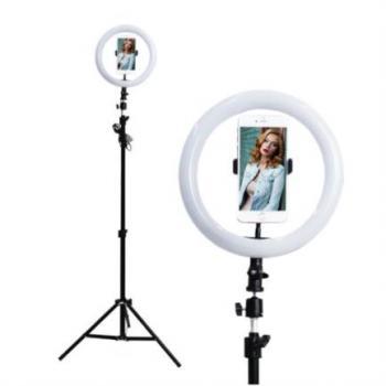 Lámpara Selfie Stylos LED Rotación 360 Altura Ajustable Color Negro