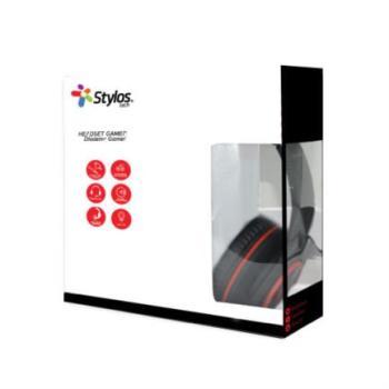 Audífonos Gamer Stylos Tech Ergonómicos LED USB+3.5mm Color Negro