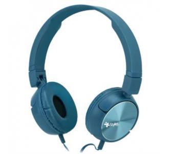 Audífonos Stylos Alámbricos Ergonómico Manos Libres 3.5mm Color Azul
