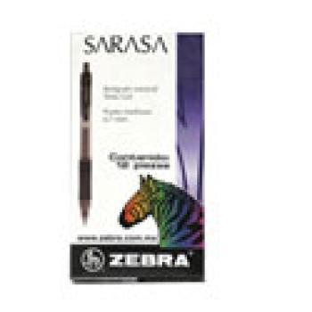 BOLIGRAFO ZEBRA SARASA RETRACTIL P.MED .7M GEL NEGRO C/12