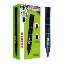 Marcador Permanente Zebra Z-PM Bold Punta 0.5mm Color Negro