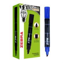 Marcador Permanente Zebra Z-PM Bold Punta 0.5mm Color Azul