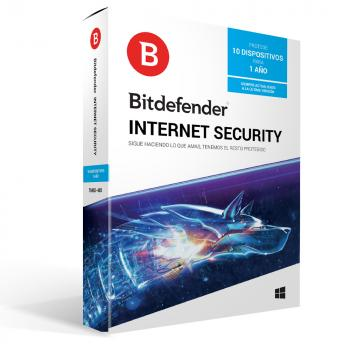 BITDEFENDER INTERNET SECURITY 2018 1YR 10USR (TMBD-408)